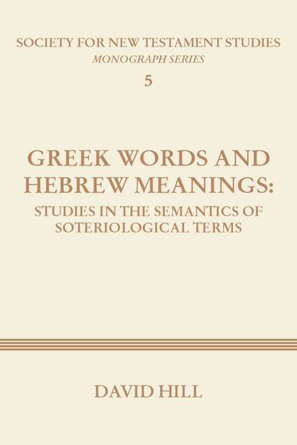 Greek Words and Hebrew Meanings als Taschenbuch
