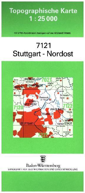 Stuttgart Nordost 1 : 25 000 als Buch