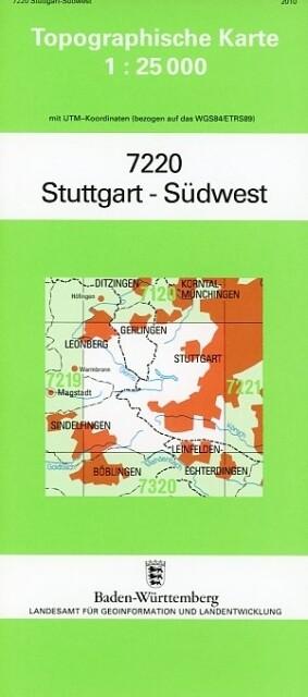 Stuttgart Südwest 1 : 25 000 als Buch