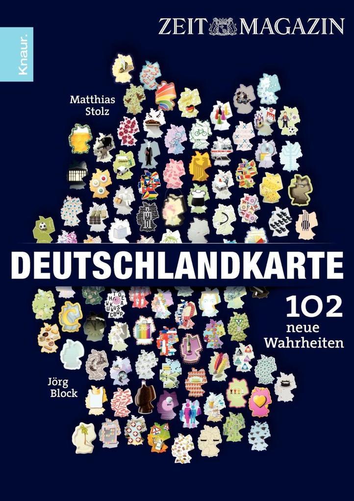 Deutschlandkarte als Taschenbuch