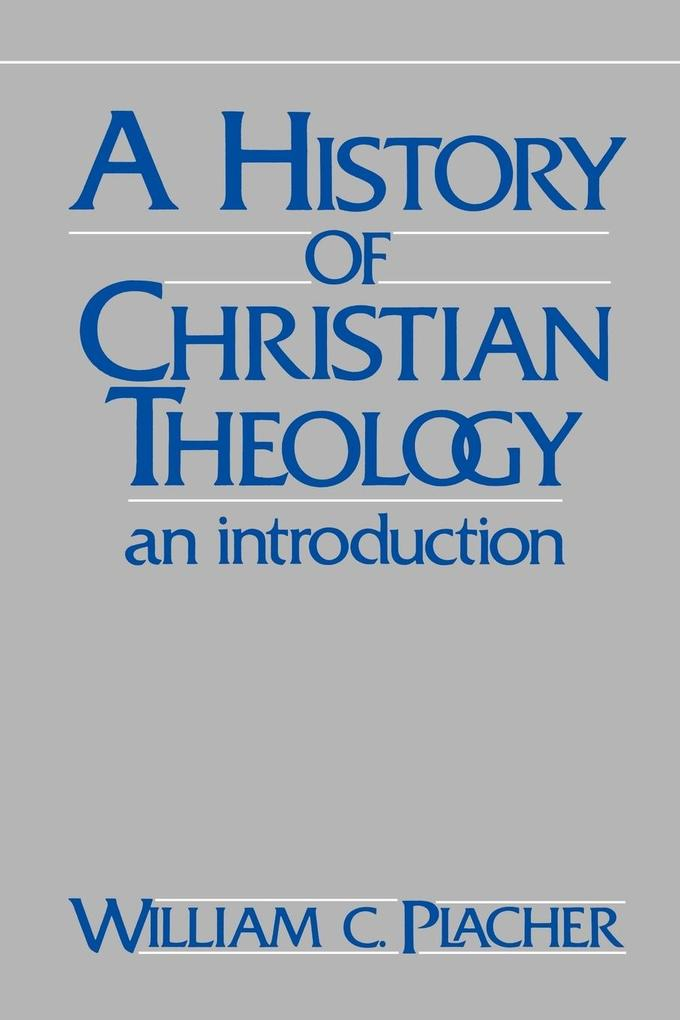 History of Christian Theology als Buch