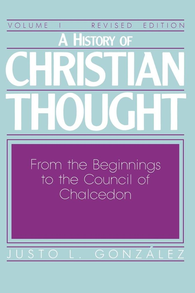 A History of Christian Thought Volume 1 als Taschenbuch