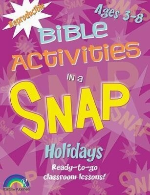 Bible Activities in a Snap: Holidays: Ages 3-8 als Taschenbuch
