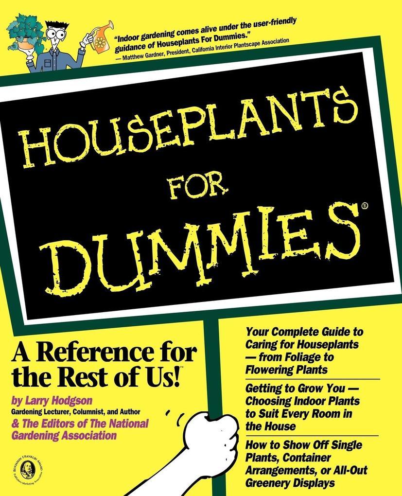 Houseplants For Dummies als Taschenbuch