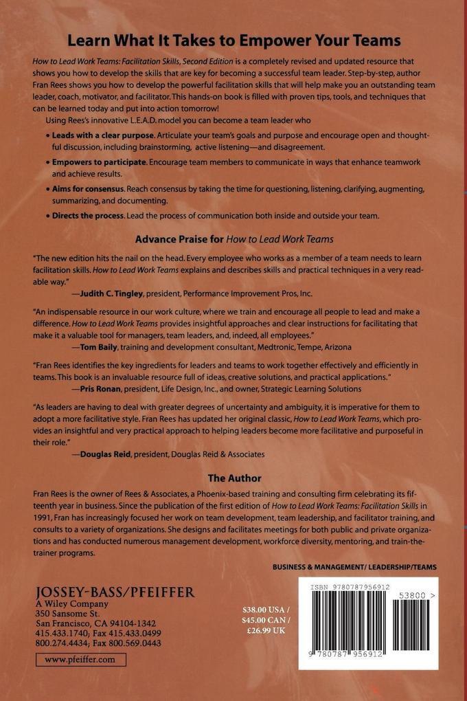 How to Lead Work Teams: Facilitation Skills als Taschenbuch