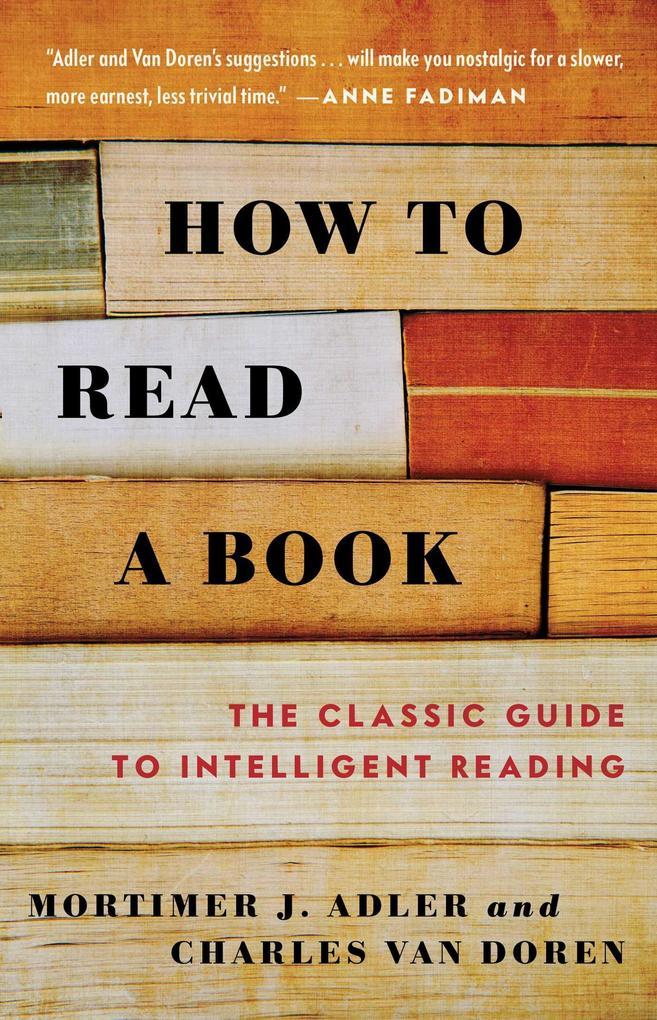 How to Read a Book als Taschenbuch