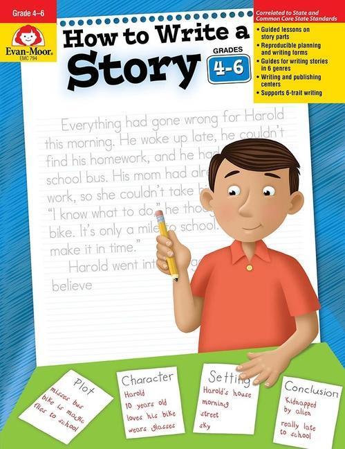 How to Write a Story, Grades 4-6 als Taschenbuch