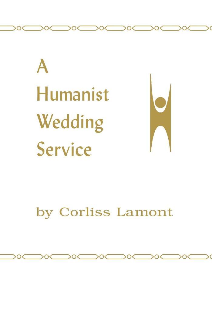 A Humanist Wedding Service als Taschenbuch