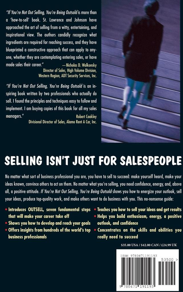 If You're Not Out Selling, You're Being Outsold als Buch