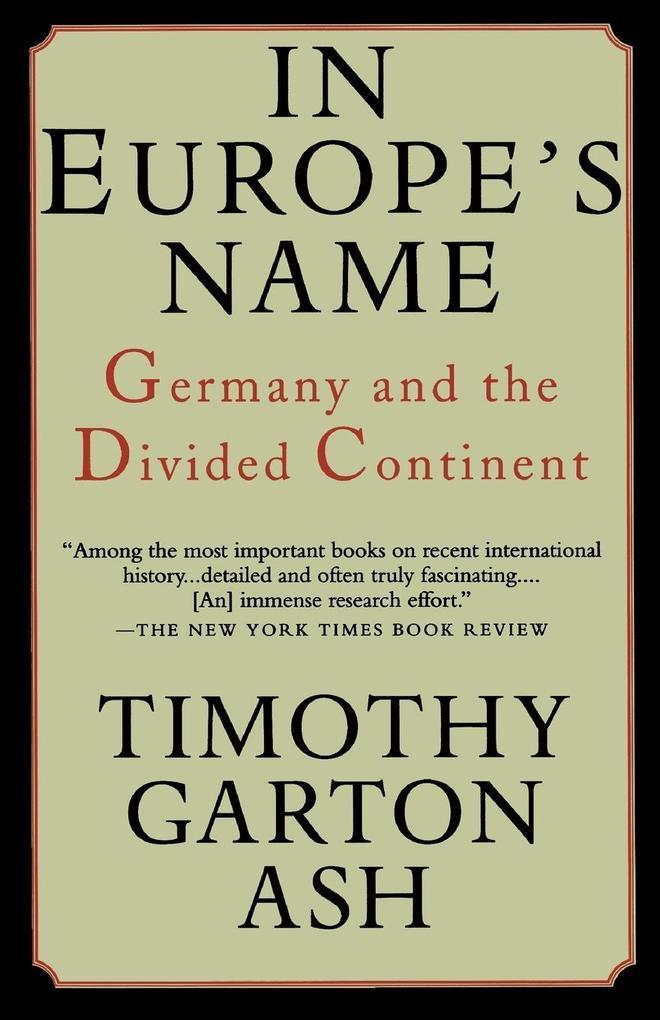 In Europe's Name als Taschenbuch