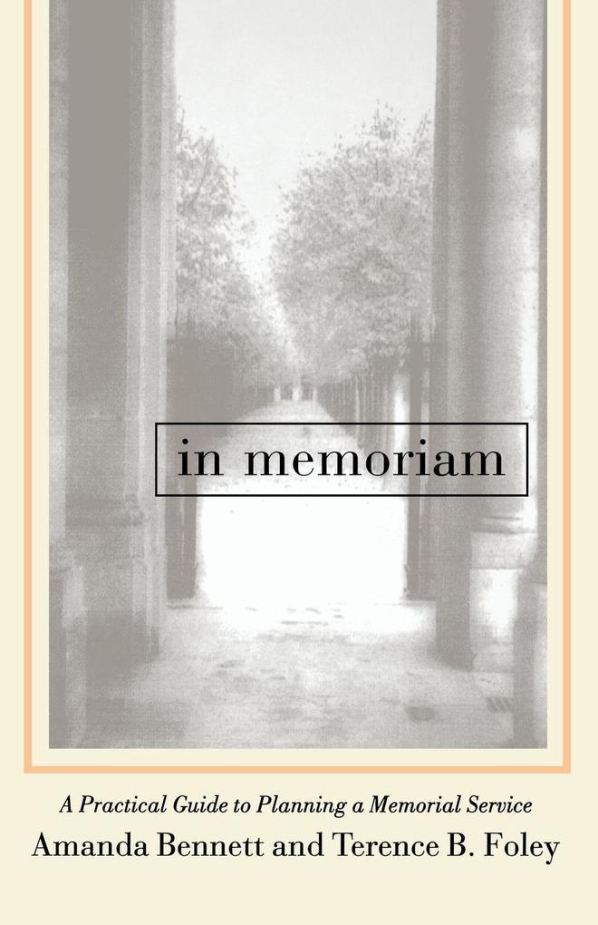 In Memoriam als Taschenbuch