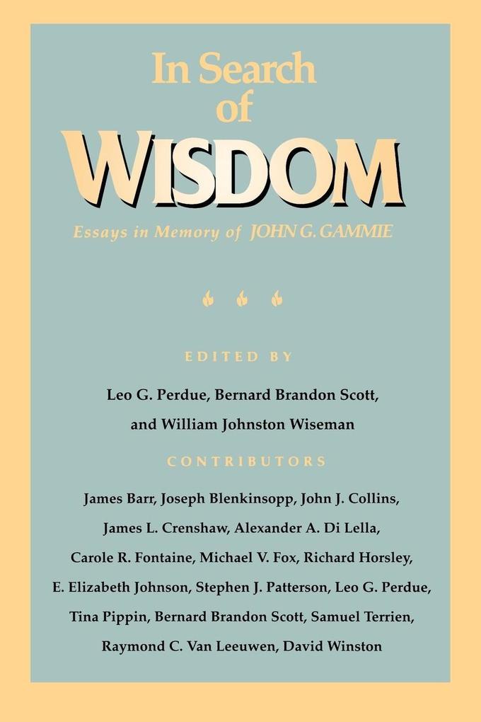 In Search of Wisdom als Taschenbuch