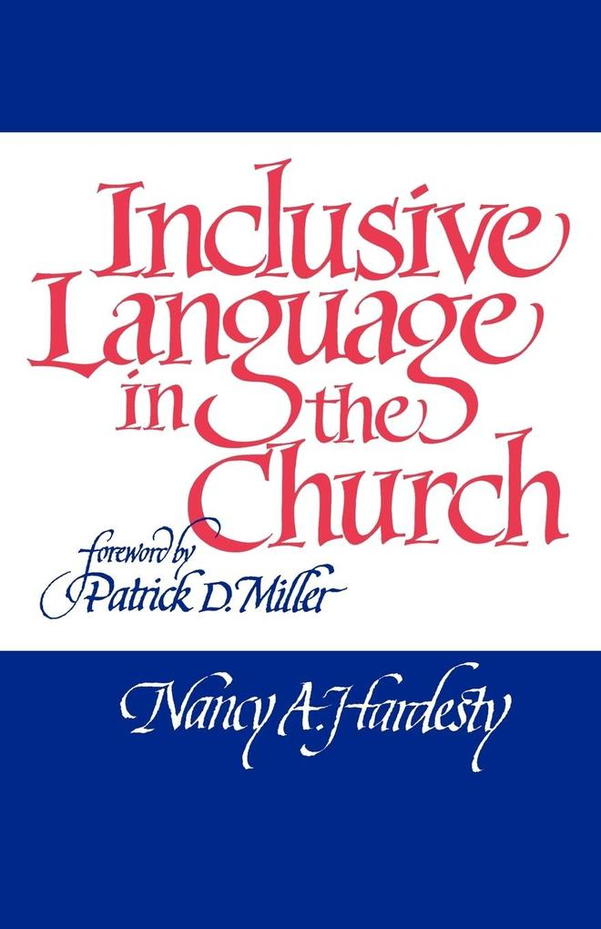 Inclusive Language in the Church als Taschenbuch