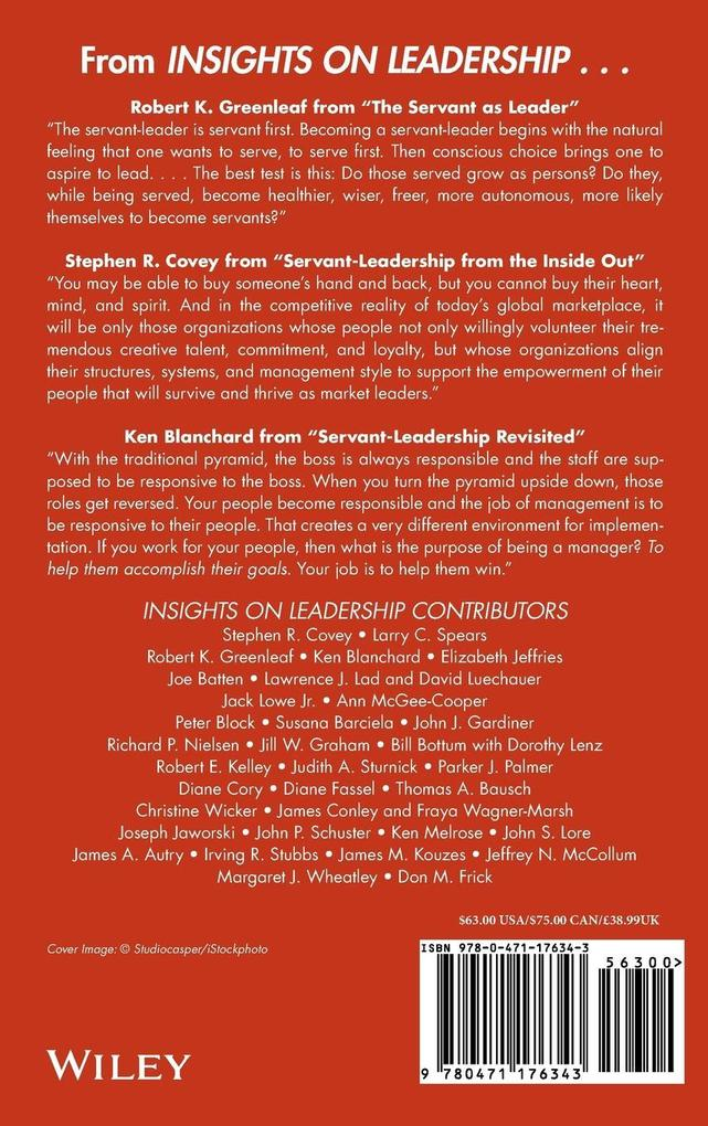 Insights on Leadership als Buch