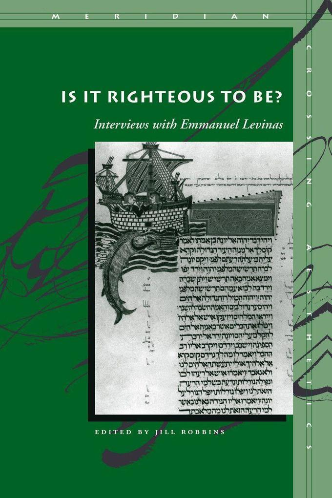 Is It Righteous to Be?: Interviews with Emmanuel Levinas als Taschenbuch