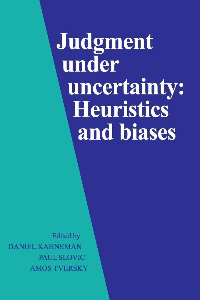 Judgment Under Uncertainty als Buch