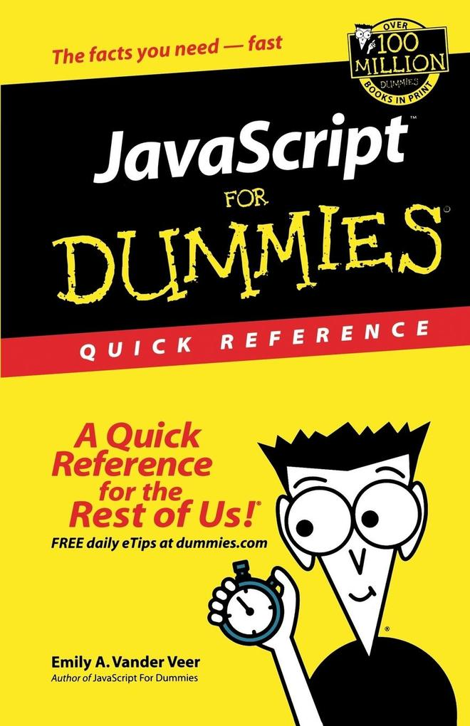 JavaScript For Dummies Quick Reference als Taschenbuch