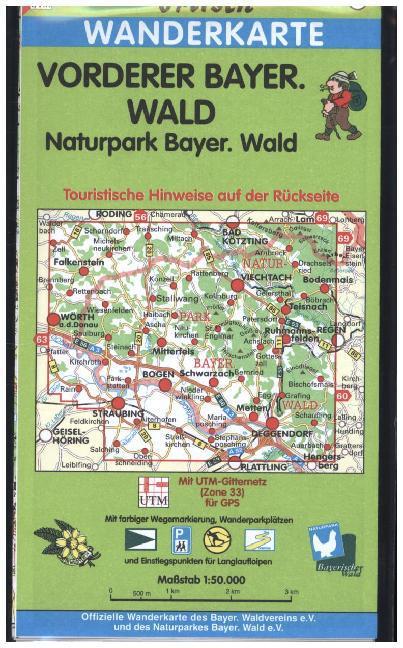 Vorderer Bayerischer Wald / Naturpark Bayerischer Wald 1 : 50 000. Fritsch Wanderkarte als Buch