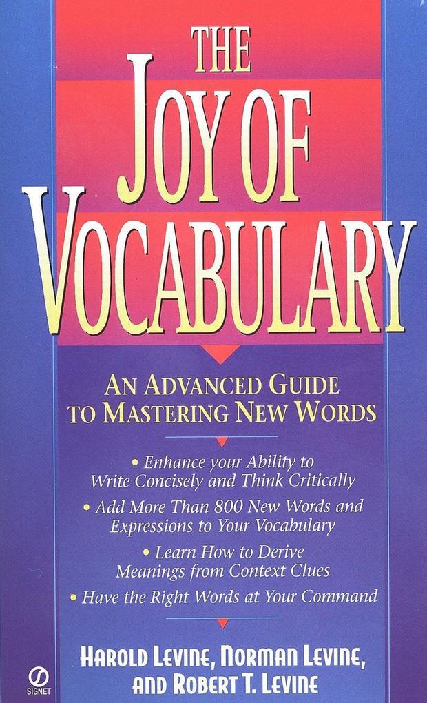 The Joy of Vocabulary als Taschenbuch