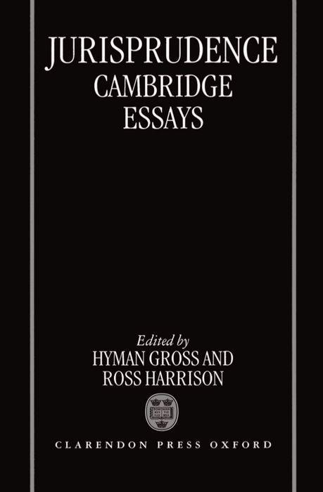 Jurisprudence: Cambridge Essays als Buch