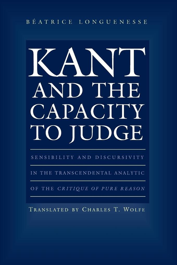Kant and the Capacity to Judge als Taschenbuch