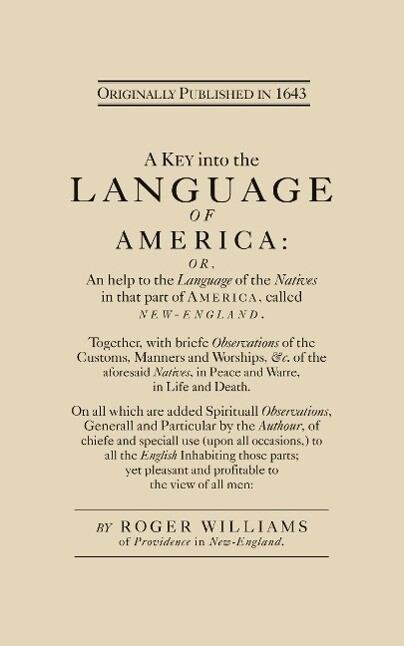 A Key Into the Language of America als Taschenbuch