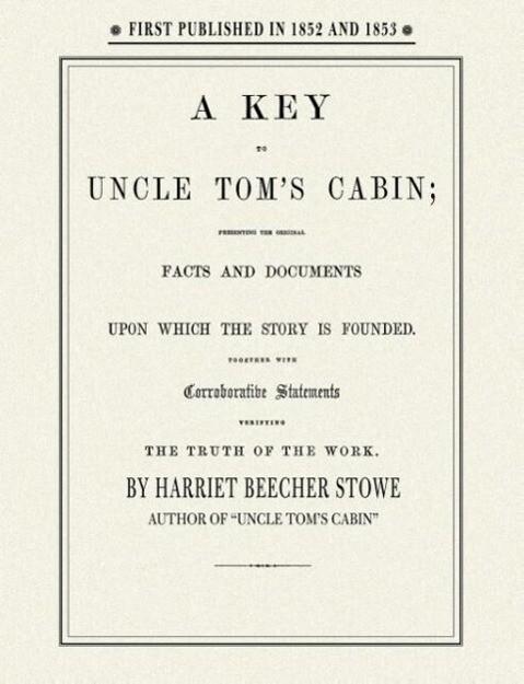Key to Uncle Tom's Cabin als Taschenbuch