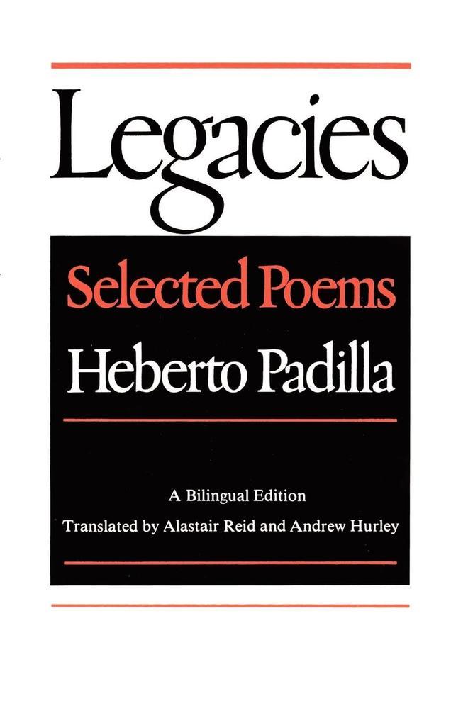Legacies: Selected Poems als Taschenbuch