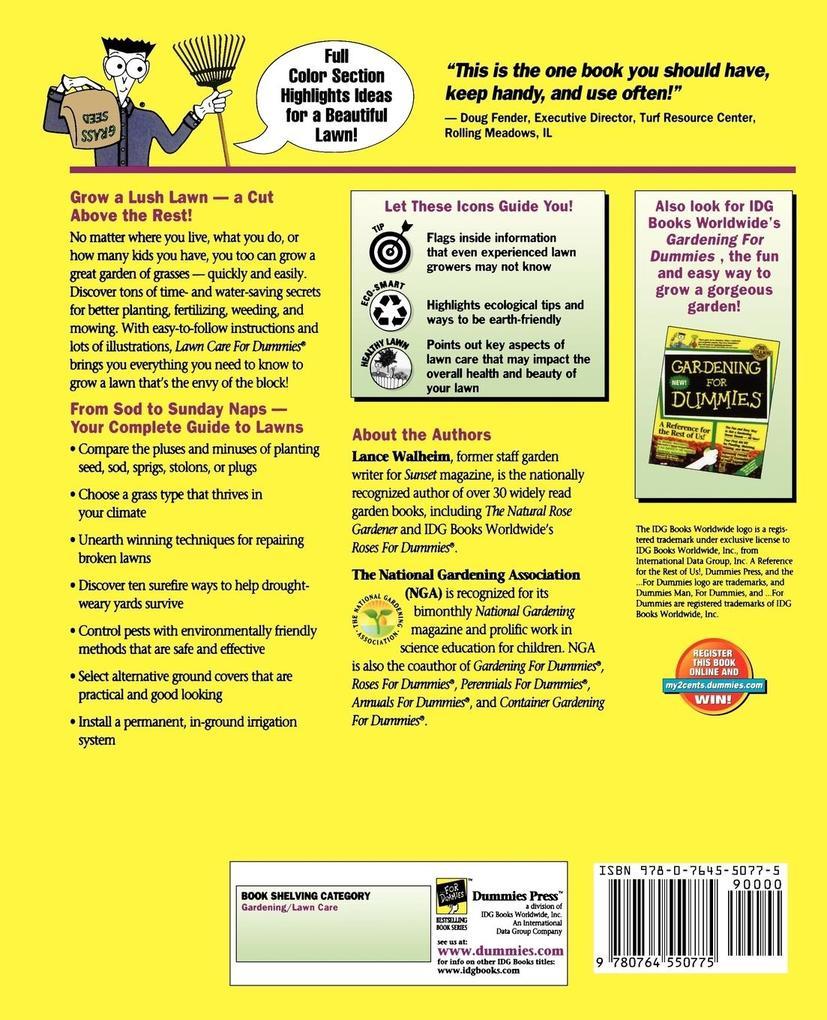 Lawn Care for Dummies. als Taschenbuch