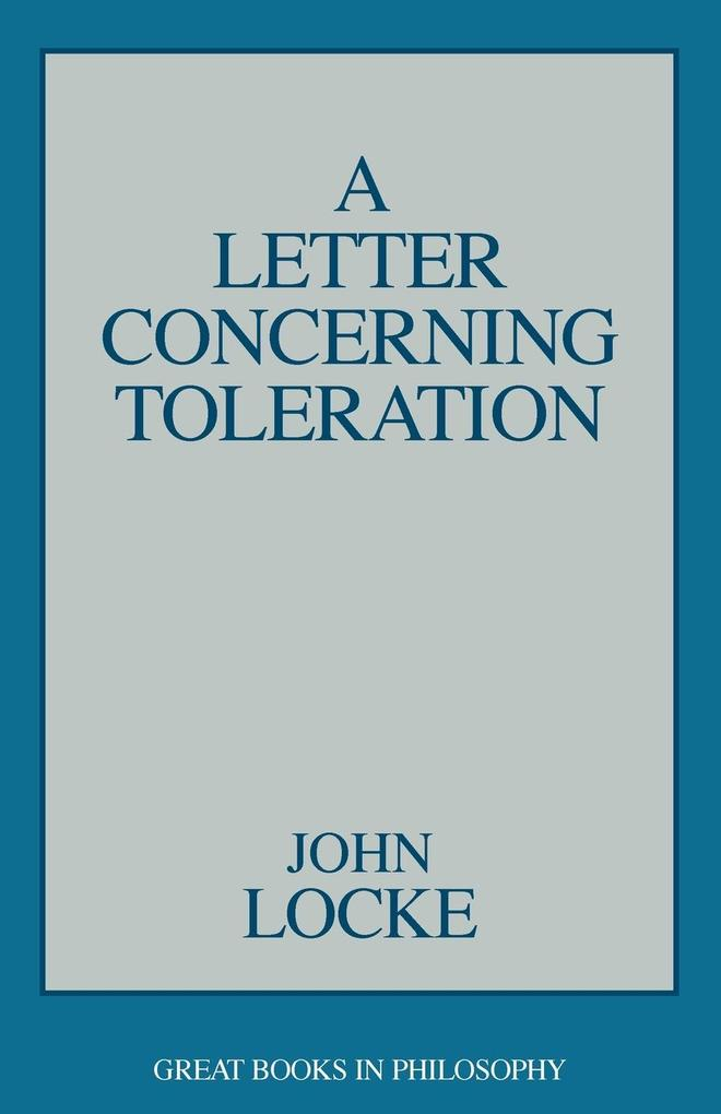 A Letter Concerning Toleration, A als Taschenbuch