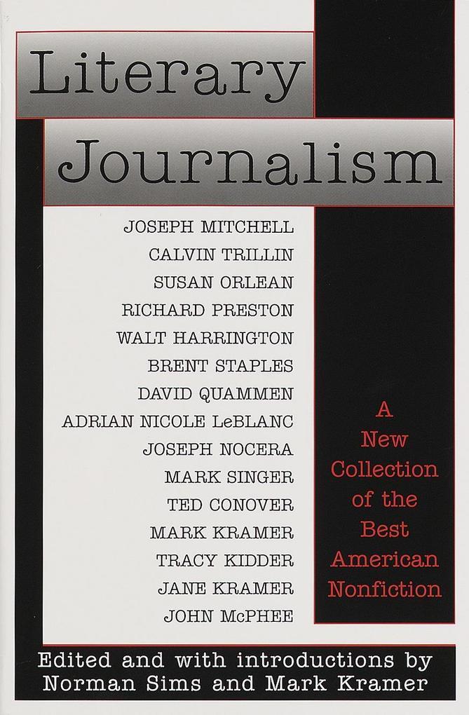 Literary Journalism als Taschenbuch