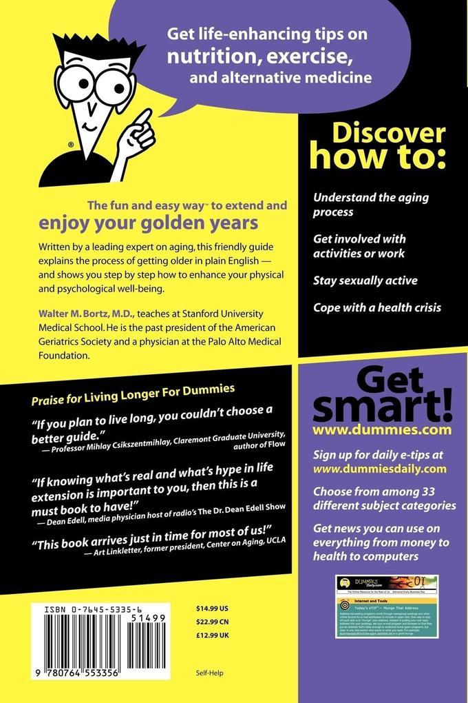 Living Longer For Dummies als Taschenbuch