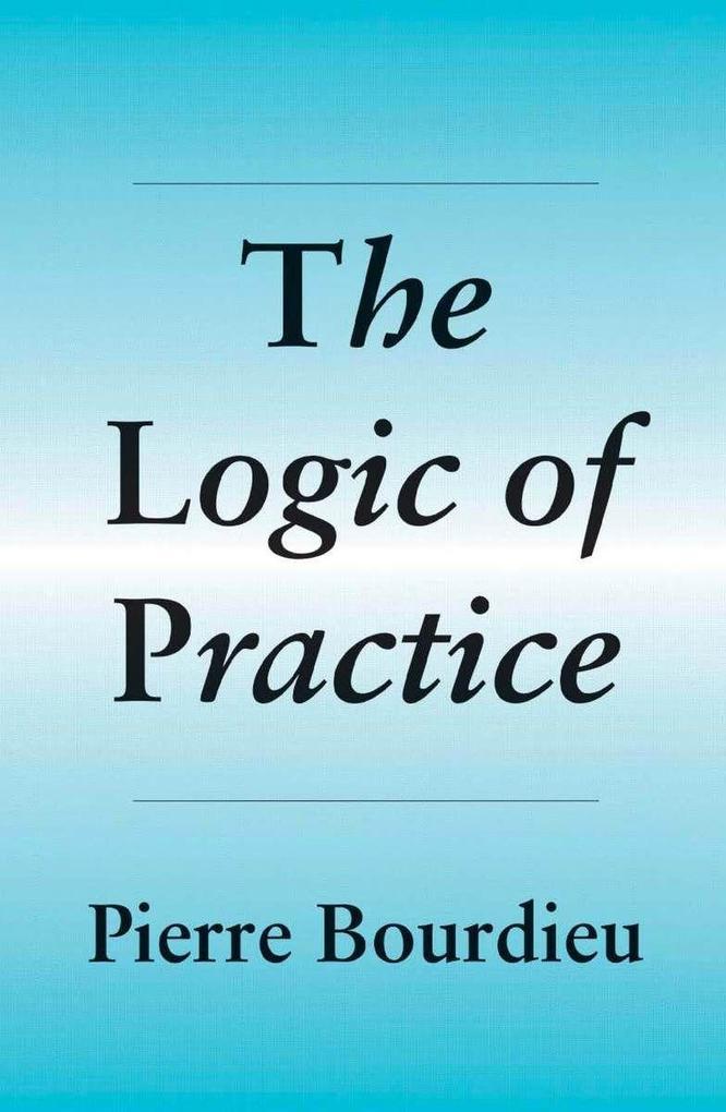 The Logic of Practice als Taschenbuch