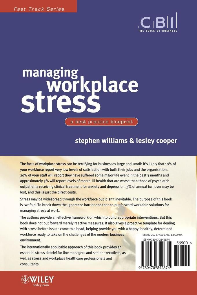 Managing Workplace Stress als Buch