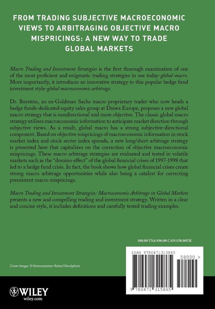 Macro Trading and Investment Strategies als Buch