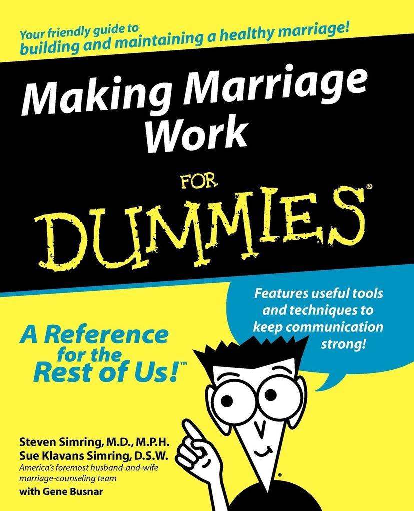 Making Marriage Work For Dummi als Taschenbuch