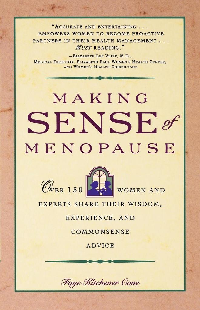 Making Sense of Menopause als Taschenbuch