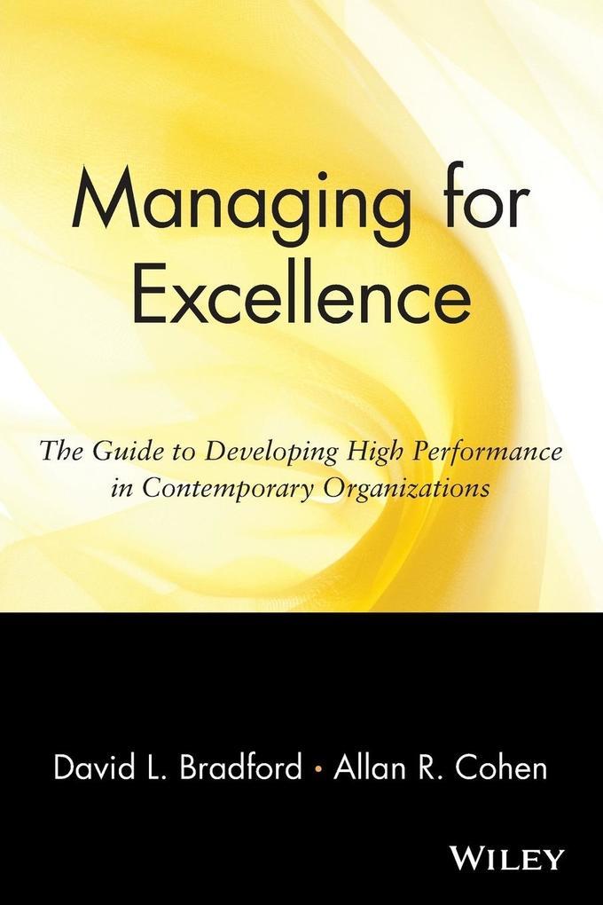 Managing for Excellence als Taschenbuch