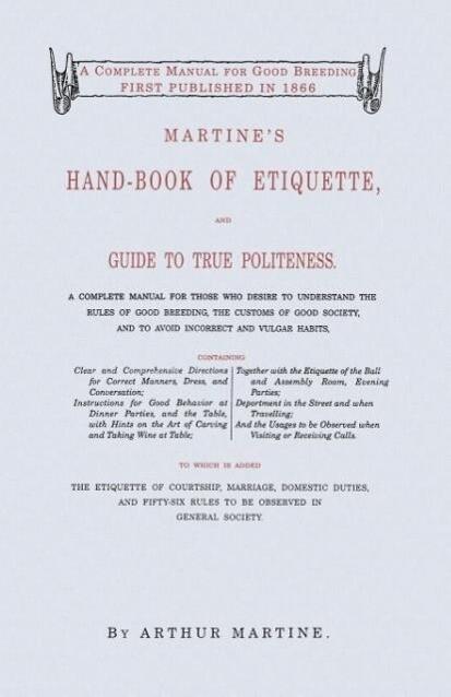 Martine's Handbook of Etiquette als Taschenbuch