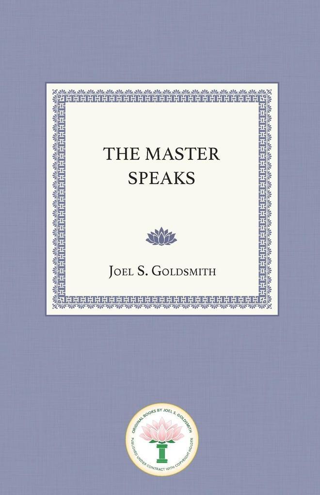 The Master Speaks als Taschenbuch