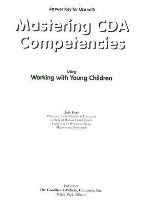 Mastering CDA Competencies Answer Key als Taschenbuch