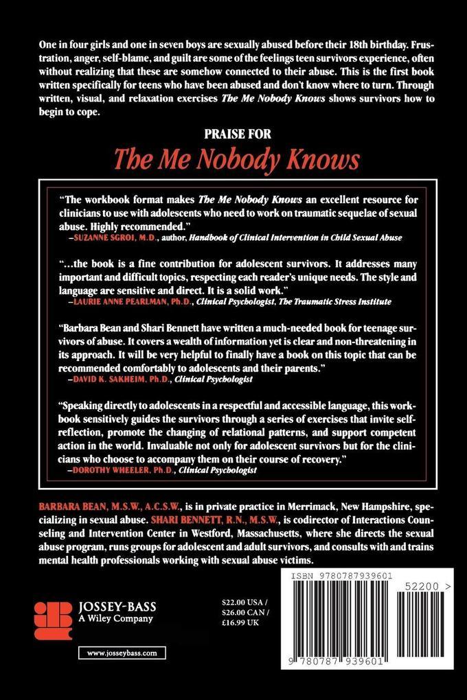 Me Nobody Knows Teen Survivors Rev P als Buch
