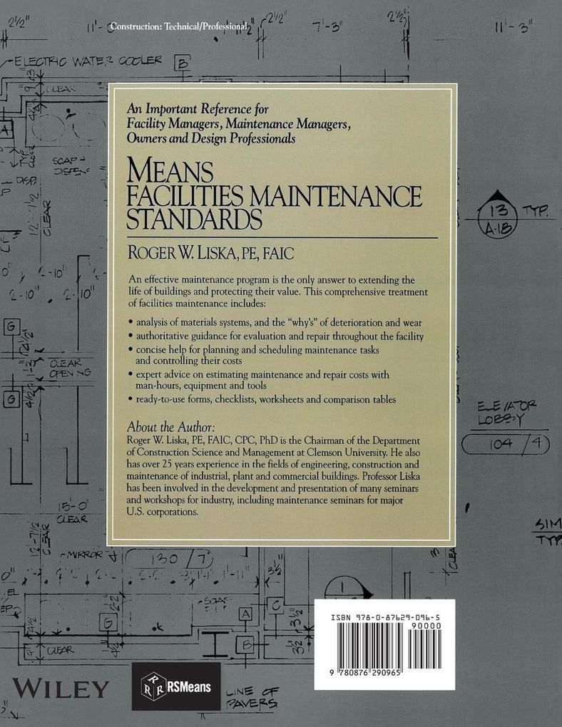 Means Facilities Maintenance Standards: A Comprehensive Overview of the Facilities Management Process als Taschenbuch