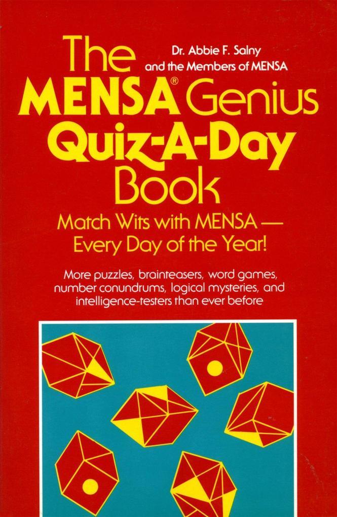 The Mensa Genius Quiz-A-Day Book als Taschenbuch