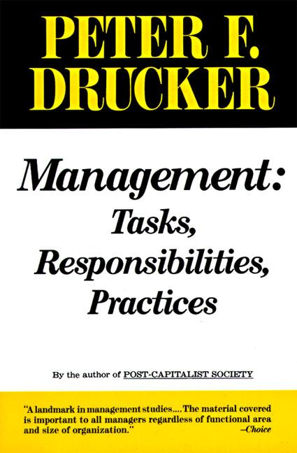 Management: Tasks, Responsibilities, Practices als Taschenbuch