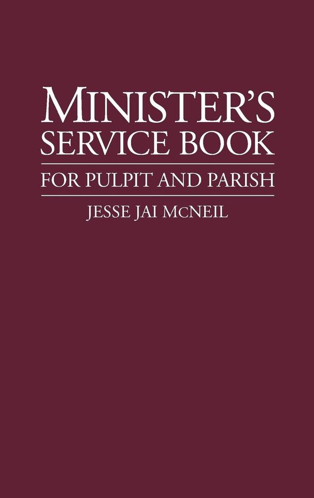 Minister's Service Book als Taschenbuch