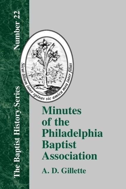 Minutes of the Philadelphia Baptist Association als Taschenbuch