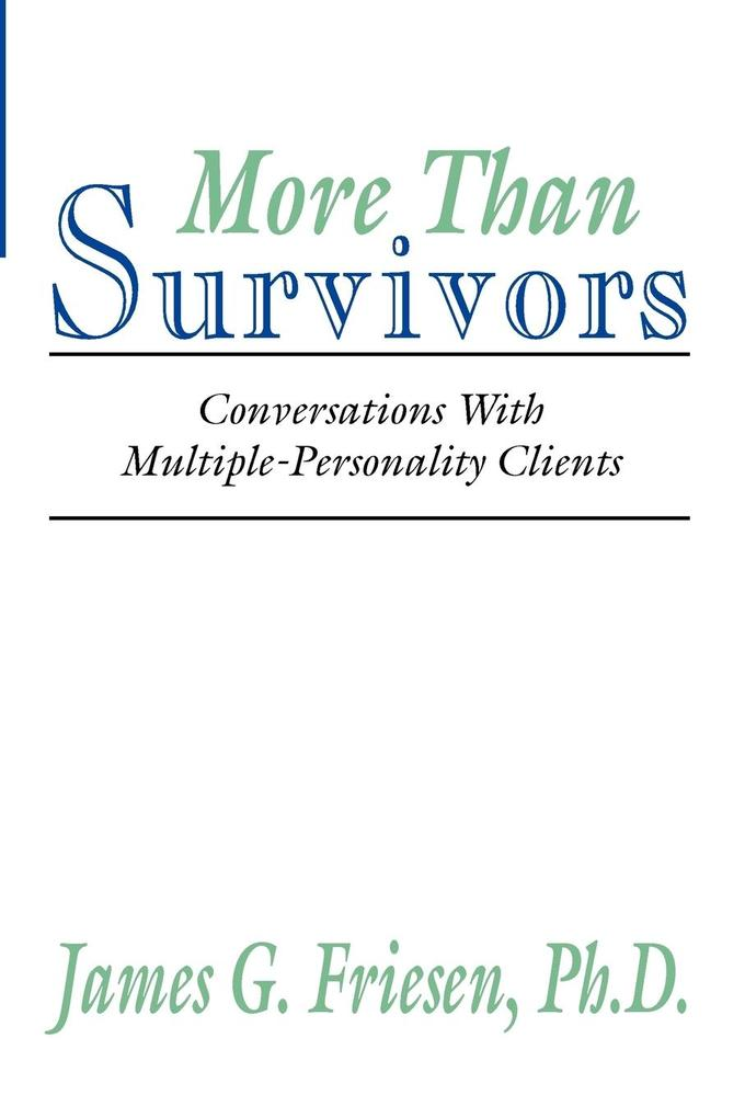 More Than Survivors als Taschenbuch
