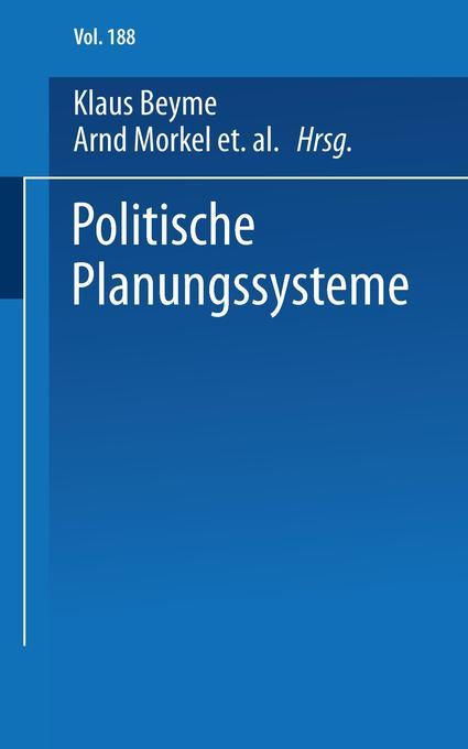 Politische Planungssysteme als Buch (kartoniert)
