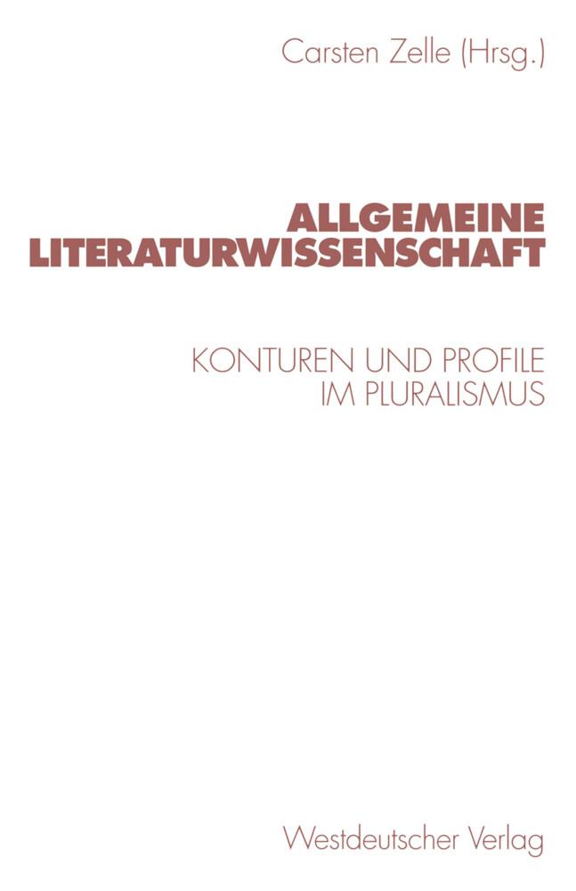 Allgemeine Literaturwissenschaft als Buch